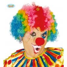 Paruka dospělácká multicolor - klaun