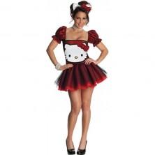 Kostým Hello Kitty Red Glitter - licenční kostým - L 42/44