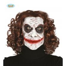 Latexová maska Joker s vlasy