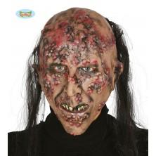 Latexová maska nemocný ZOMBIE s vlasy