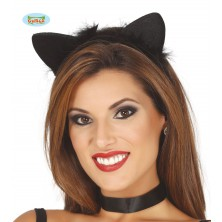 Kočičí uši na vlasové sponě