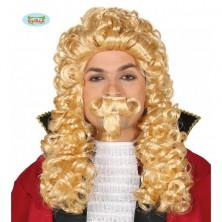 Markýz - paruka s knírem blond