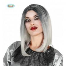 Dámská atraktivní paruka Mi-Longue černo-bílá
