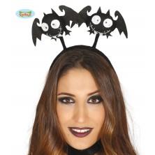 Vlasová spona s netopýry černá