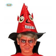 Dětský čertovský klobouk červený