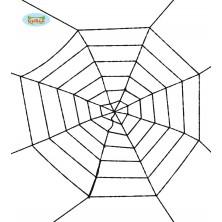 Černá pavoučí síť 100 cm
