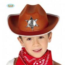 Kovbojský klobouk hnědý pro děti