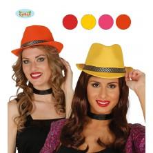 Dámský klobouk saténového vzhledu