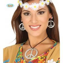 Hippie náhrdelník s naušnicemi
