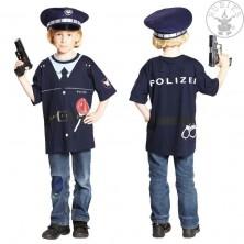 Tričko POLICIE - dětský karnevalový kostým