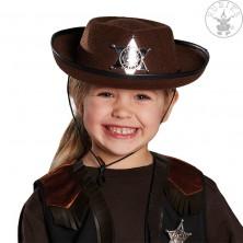 Dětský kovbojský klobouk hnědý