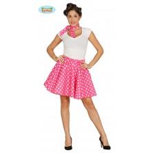 PIN UP - sukně růžovobílá