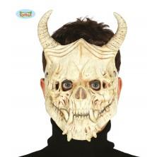 Maska SKULL s rohy