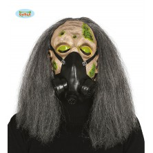 Maska - gázmaska s vlasy