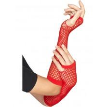 Síťované rukavice, červené