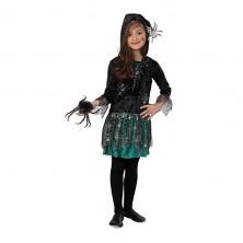 Pavoučí dívka - šaty s kapucí - 104