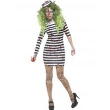 Zombie vězeňkyně - kostým