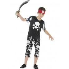 Dětský kostým - Pirát černo bílý