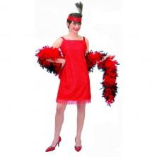 Charleston šaty červené