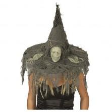 Čarodějnický klobouk s lebkou