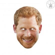Princ Harry - kartonová maska pro dospělé