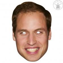Princ William - kartonová maska pro dospělé