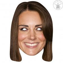 Princezna Catherine - kartonová maska pro dospělé