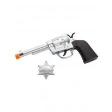 Pistole a odznak šerifa