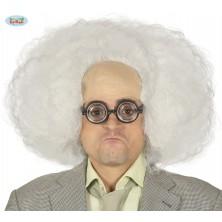 Bílá paruka s vysokým čelem - vědec
