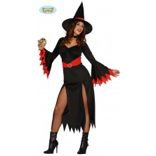 Kostým červená čarodějnice