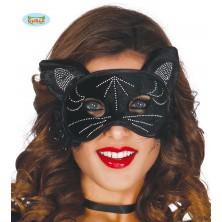 Kočičí maska černá
