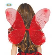 Červená beruščí křídla 44 x 37 cm