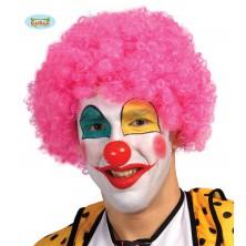Paruka růžový klaun