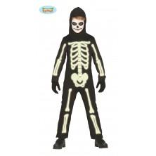 Dětský kostým kostra fluoreskující