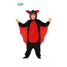 Dětský kostým červený netopýr