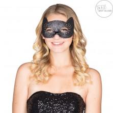 Sexy Kočka - maska s vousy