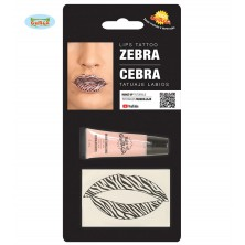 Tetování na rty zebra