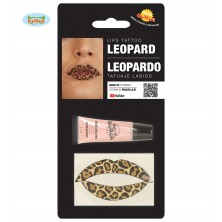 Tetování na rty leopard