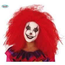 Red clown wig - červená klauní paruka