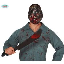 Zakrvácená maska a mačeta