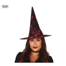 Černo-krvavý čarodějnický klobouk