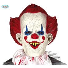 Maska klauna s rudými vlasy