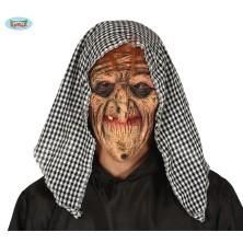 Latexová maska s šátkem