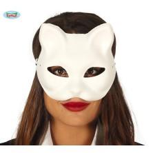Bílá kočičí maska