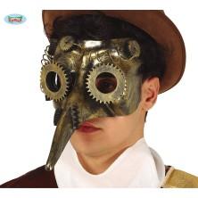 Maska s nosem Steampunk