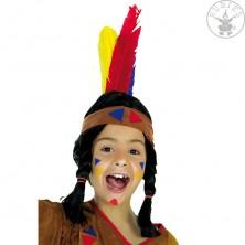 Indiánská čelenka látková