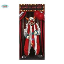 Dekorace na dveře Klaun Horor