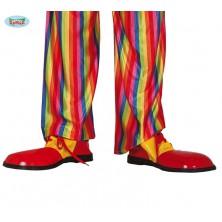 Červeno-žluté boty pro klauna