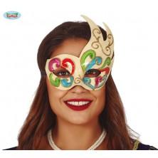 Barevná benátská maska