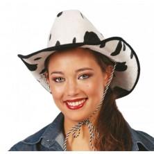 Kovbojský klobouk černo-bílý filcový